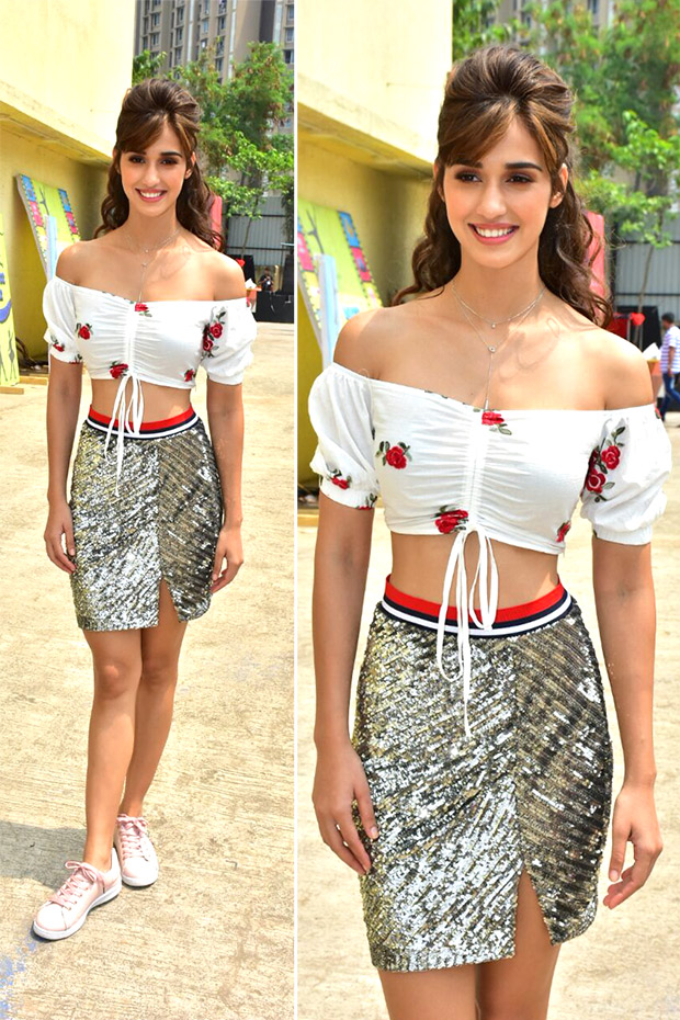 Disha Patani for Baaghi 2 promotions in Falguni and Shane Peacock