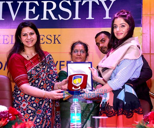 Divya Khosla Kumar rallies audience on female hygiene at She Wings' International Women's Week conference