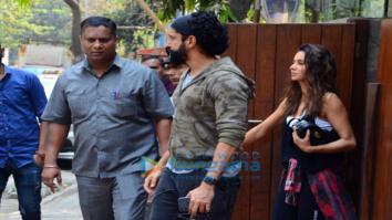 Farhan Akhtar and Anusha Dandekar spotted at Indigo Cafe in Bandra
