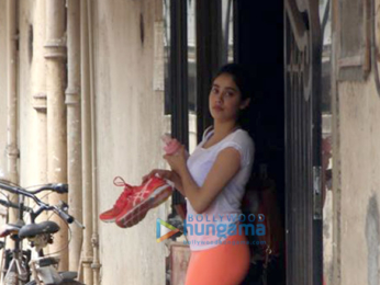 Janhvi Kapoor snapped at the gym