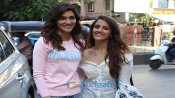 Kriti Sanon and Nupur Sanon snapped in Mumbai