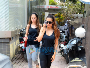 Malaika Arora snapped at the gym in Bandra