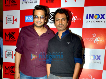 Nawazuddin Siddiqui and others snapped at Bolti Khidkiyaan short film screening