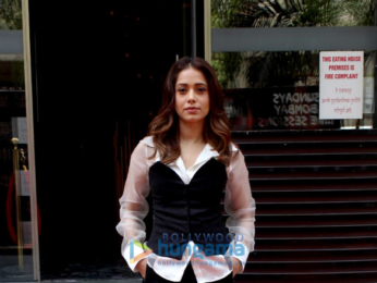 Nushrat Bharucha snapped outside a restaurant