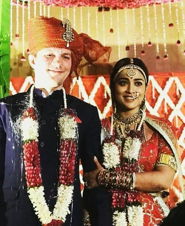 Pics leaked! Shriya Saran and husband Andrei Koscheev look ROYAL in their wedding pictures