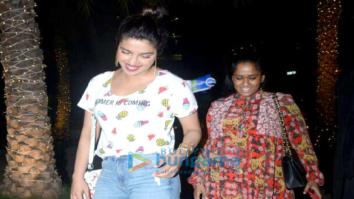 Priyanka Chopra and Arpita Khan grab dinner at BKC