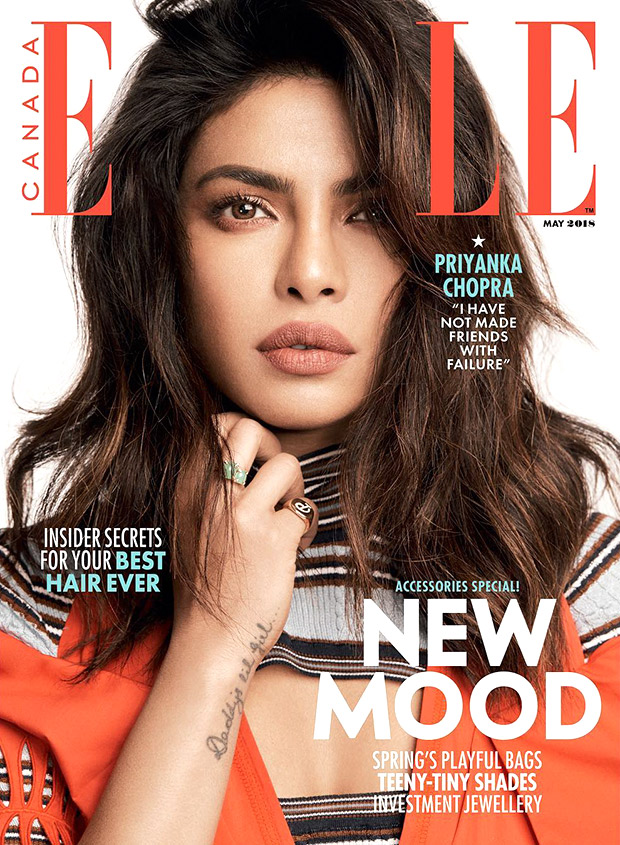 Priyanka Chopra as May cover girl for Elle Canada
