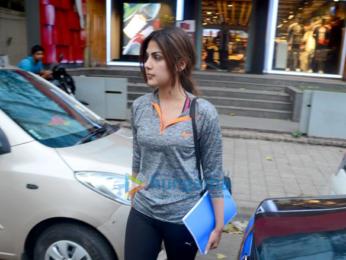 Rhea Chakraborty snapped in Khar