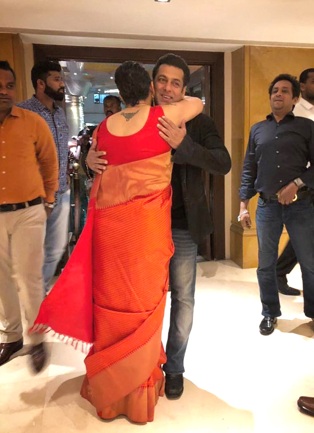 Salman Khan looked handsome with a broad smile at a friend's wedding