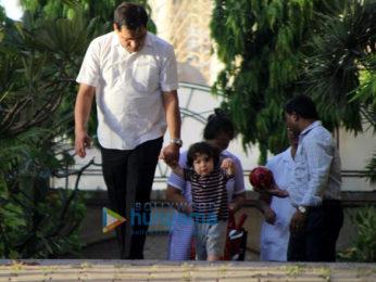 Taimur Ali Khan spotted at Amrita Arora's house