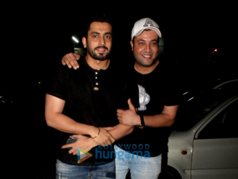 Varun Sharma snapped with friends at Juhu PVR