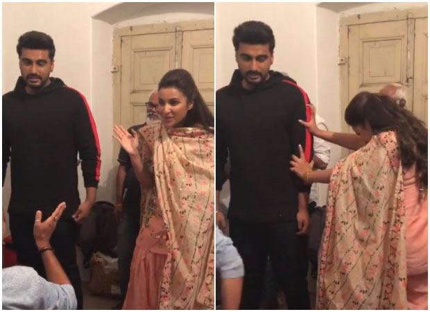 WATCH: Parineeti Chopra tries HARD to push Namaste England co-star Arjun Kapoo
