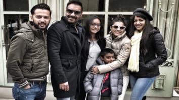 Ajay Devgn rings in his 49th birthday with Kajol, Nysa, Yug, Vatsal Sheth and Ishita Dutt in Paris