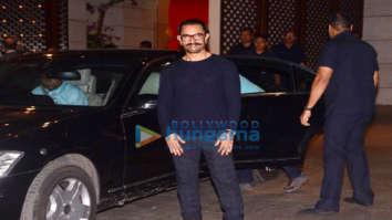 Aamir Khan, Sachin Tendulkar and John Abraham at the Ambani party for Olympics committee