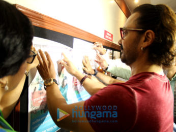 Aamir Khan unveils the poster for Paani Foundation at Symbiosis College in Pune