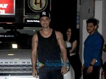 Aayush Sharma, Warina Hussain and Kartik Aaryan spotted at gym