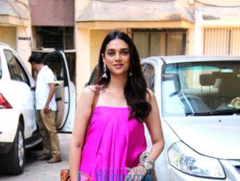 Aditi Rao Hydari spotted at a nail spa Bandra