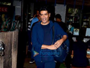 Aditya Roy Kapur and Manish Malhotra spotted at Hakim Alim's in Bandra