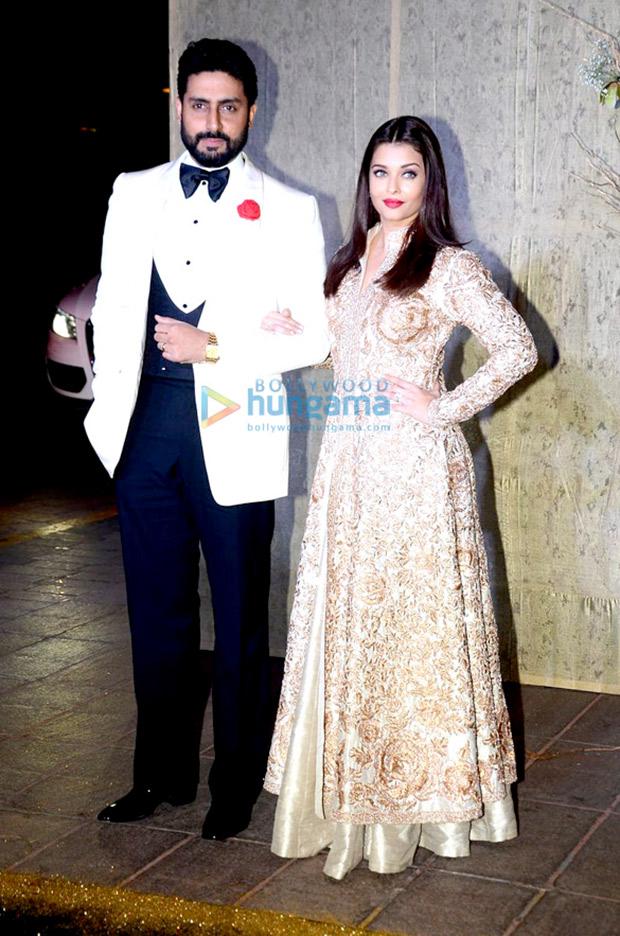 Aishwarya Rai Bachchan and Abhishek Bachchan at Manish Malhotra's 50th birthday bash