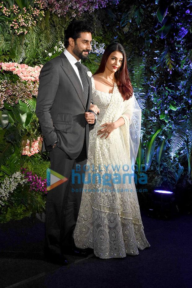 Aishwarya Rai Bachchan and Abhishek Bachchan at Virat Kohli-Anushka Sharma wedding reception
