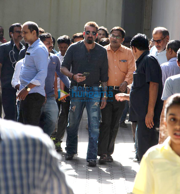 Alia Bhatt and Sanjay Dutt spotted at Vishesh Films' office