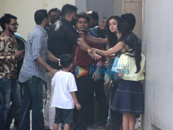 Alia Bhatt and Sanjay Dutt spotted at Vishesh Films' office
