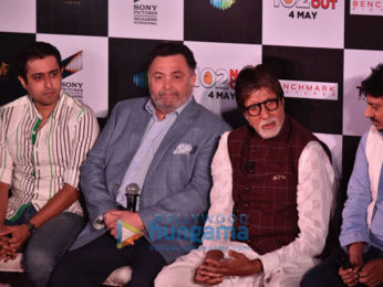 Amitabh Bachchan and Rishi Kapoor launch the track 'Badumbaaa' from '102 Not Out'