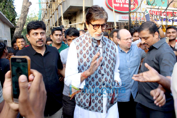 Amitabh Bachchan spotted in Versova
