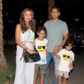 Amrita Arora snapped with family spotted at Nara Thai, BKC