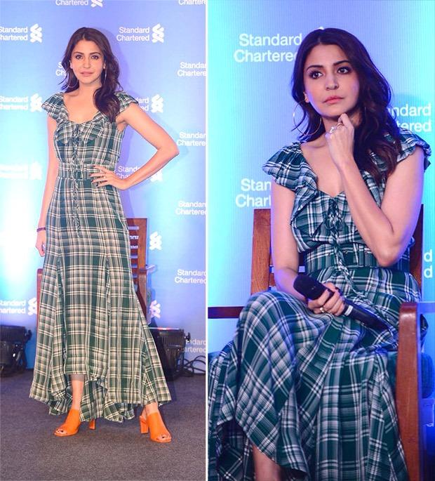 Anushka Sharma looks stunning in plaid