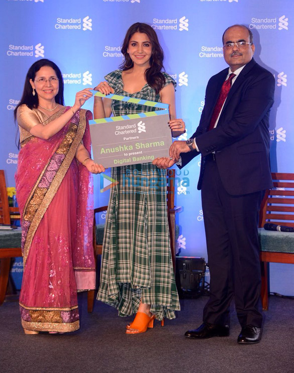 Anushka Sharma snapped at Standard Chartered press conference