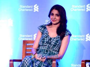 Anushka Sharma snapped at Standard Chartered press conference
