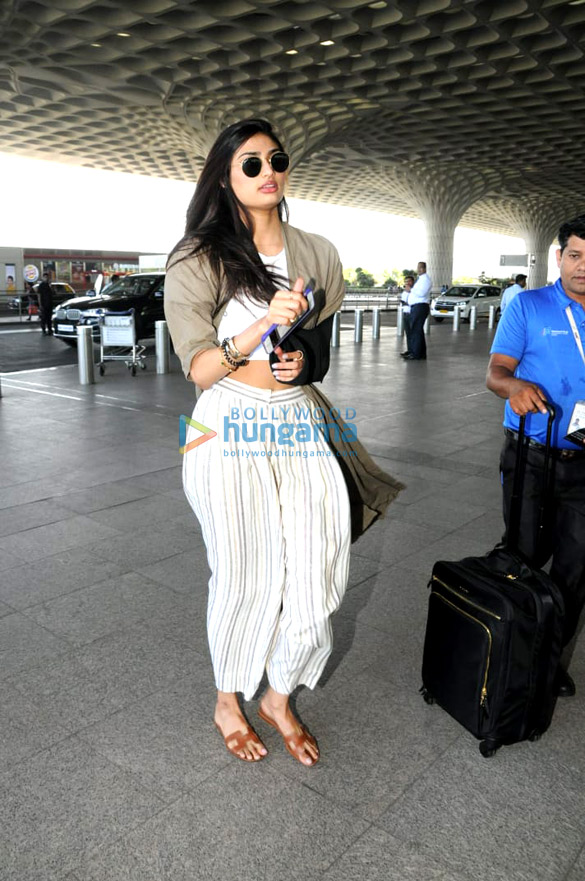 Athiya Shetty, Disha Patani, Shibani Kashyap, and Rajkummar Rao snapped at the airport