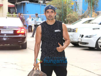 Gurmeet Choudhary snapped at the gym