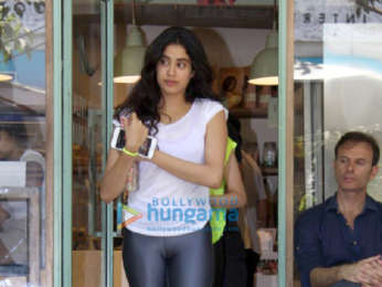 Janhvi Kapoor spotted at The Kitchen Garden in Bandra