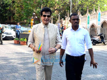 Jeetendra spotted at Mount Mary Church in Bandra