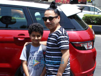 Kailash Kher spotted with his son in Juhu