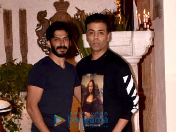 Karan Johar, Sanjay Kapoor and others snapped at a party at Sonam Kapoor's house