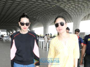 Kareena Kapoor Khan, Karisma Kapoor, Sonam Kapoor and Fatima Sana Shaikh snapped at the airport