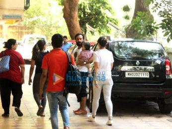 Kareena Kapoor Khan, Saif Ali Khan and Taimur spotted at play school