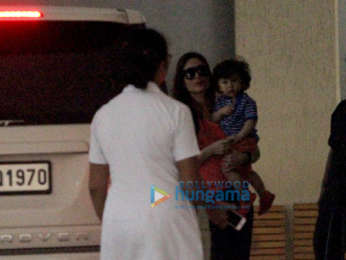 Kareena Kapoor Khan and Karisma Kapoor snapped with Taimur Ali Khan in Bandra