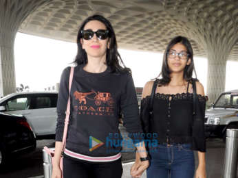 Karisma Kapoor and Manish Malhotra snapped at the airport