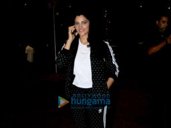 Kartik Aaryan and Saiyami Kher snapped at the airport