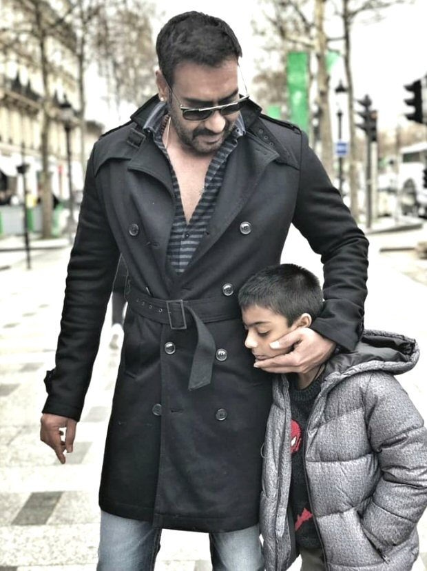 Now what? Internet gets OFFENDED because Ajay Devgn smokes next to his son