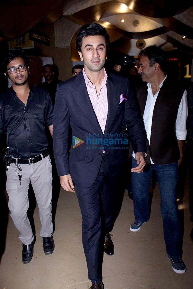 Ranbir Kapoor looks dapper in a suit at Sanju teaser launch