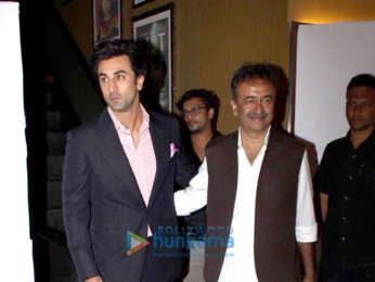 Ranbir Kapoor snapped arriving for the teaser launch of Sanju