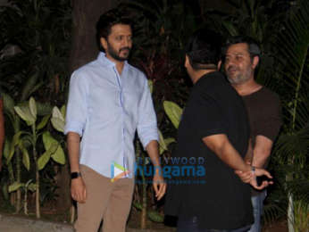 Riteish Deshmukh and Milap Zaveri spotted after a meeting in Khar
