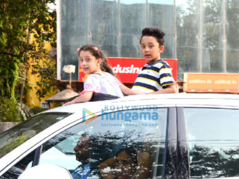 Sanjay Dutt's kids snapped in Bandra