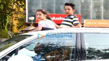 Sanjay Dutt's kids snapped in Bandra