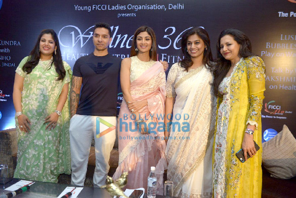 Shilpa Shetty snapped attending FICCI FLO